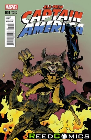 All New Captain America #1 (Rocket Racoon and Groot Variant Cover)