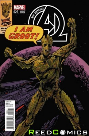 New Avengers Volume 3 #26 (Rocket Raccoon and Groot Variant Cover)