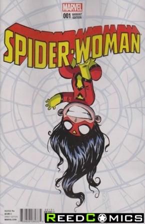 Spiderwoman Volume 5 #1 (Skottie Young Baby Variant Cover)