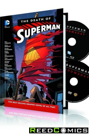 Death of Superman Hardcover and DVD Blu Ray Set