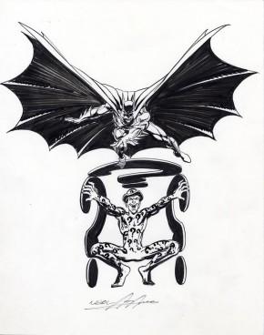 NEAL ADAMS ORIGINAL - BATMAN AND THE RIDDLER Comic Art