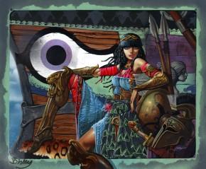 Simon Bisley Famous Women #21 Original Art - Artemisia