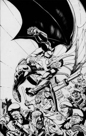 Simon Bisley Original Comic Art - Batwing #16 Cover Art Comic Art