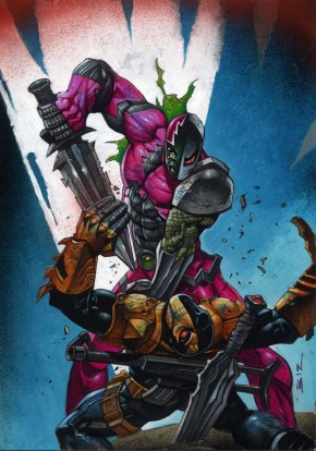 Simon Bisley Original Comic Art - Deathstroke #7 Cover Art Comic Art