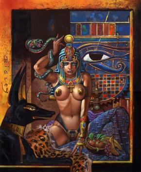 Simon Bisley Famous Women #20 Original Art - Hatshepsut
