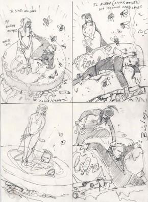 Simon Bisley Pencil & Ink Art - Hellblazer #275 Prelims