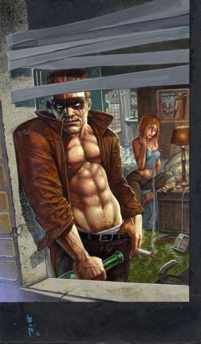 Simon Bisley Original Comic Art - Hellblazer #257 Cover Art