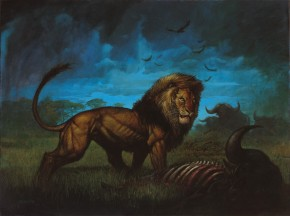 Simon Bisley Original Comic Art - Lion Fine Art