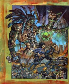 Simon Bisley Original Art - Lost Angeles Cover Art #2 Comic Art