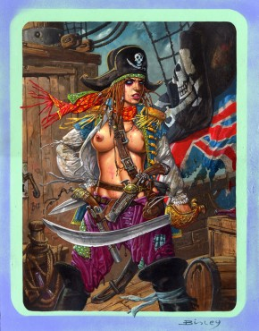 Simon Bisley Famous Women #13 Original Art - Mary Read
