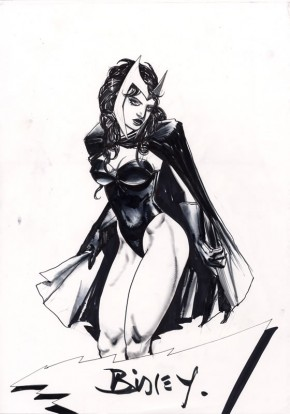 Simon Bisley Comic Art - Large Scarlet Witch Sketch