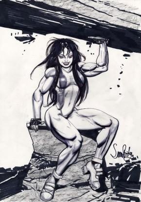 Simon Bisley Comic Art - Large She-Hulk Sketch