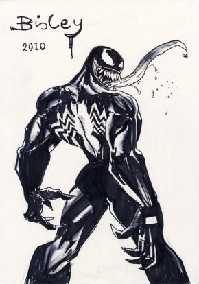 Simon Bisley Comic Art - Large Venom Sketch