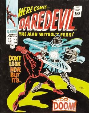 Gene Colan Original Art - Daredevil #37 Cover Re-Creation