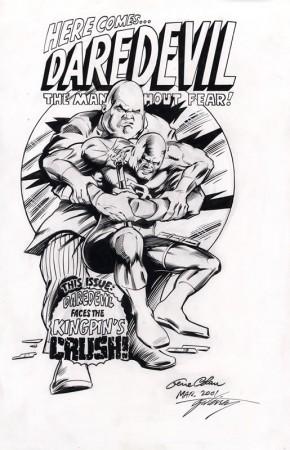 GENE COLAN ORIGINAL ART - DAREDEVIL VS KINGPIN STYLE COVER Comic Art