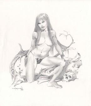 Mike Hoffman Original Art - Cavewoman