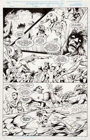 Alan Davis Original Art - Clandestine #4 Page 13