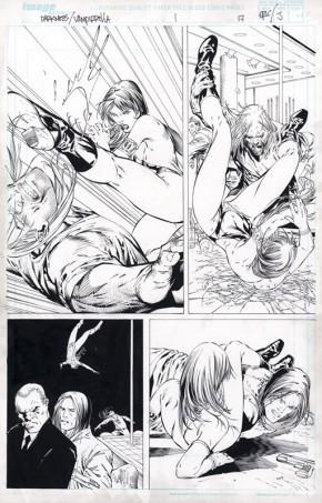 ERIC BASALDUA ORIGINAL COMIC ART - DARKNESS VAMPIRELLA PAGE 17 Comic Art