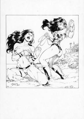 ED BENES ORIGINAL COMIC ART - WONDER WOMAN Comic Art