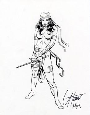 GREG HORN ORIGINAL COMIC ART - ELEKTRA ORIGINAL COMMISSION Comic Art
