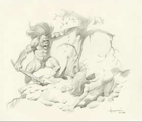 MIKE HOFFMAN ORIGINAL ART - BEAUTY AND THE BEAST Comic Art