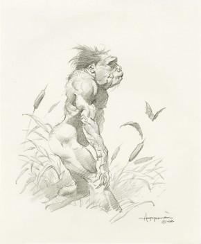 MIKE HOFFMAN ORIGINAL ART - SWAMP CREATURE Comic Art