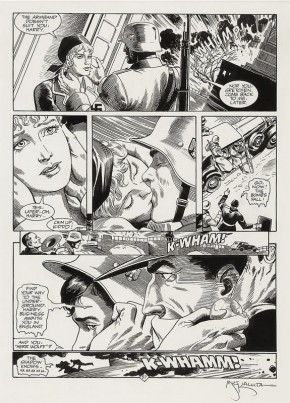 MICHAEL KALUTA ORIGINAL ART - THE SHADOW: HITLERS ASTROLOGER PAGE 57 Comic Art