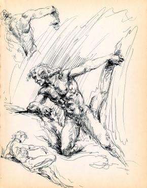 Roy Krenkel Original Art - Male Studies Comic Art