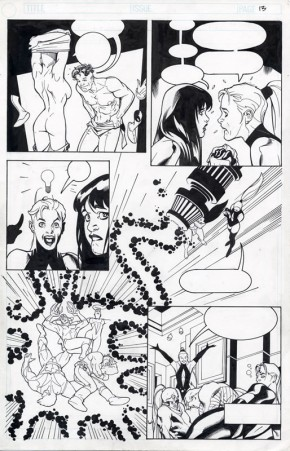 Adam Hughes Original Comic Art - Penthouse Comix Page 13