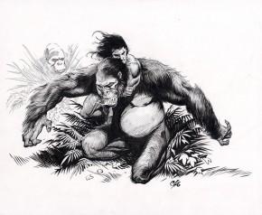 FRANK CHO ORIGINAL COMIC ART - TARZAN AND THE APES Comic Art
