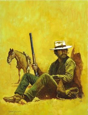 Sanjulian (Manuel Perez Clemente) Western Paperback Cover Comic Art