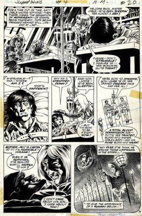 BERNIE WRIGHTSON ORIGINAL ART - 1973 SWAMP THING #4 PAGE 16 Comic Art
