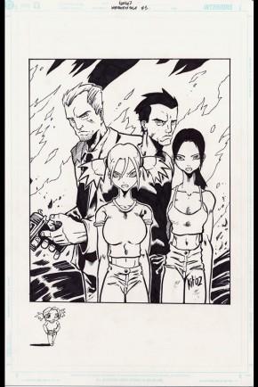 Kit Wallis Heaven 7 Intro Page Comic Art