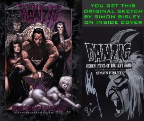 Danzig Lyric Book Signed Bisley & Danzig + Original Sketch by Bisley