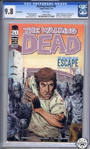 The Walking Dead #100 (SDCC Escape Variant CGC 9.8)