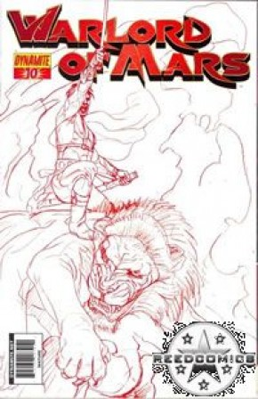 Warlord of Mars #10 (Red Jusko Sketch Variant Cover)