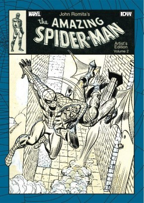 JOHN ROMITA THE AMAZING SPIDER-MAN VOLUME 2 ARTIST EDITION HARDCOVER SIGNED BY JOHN ROMITA, GERRY CONWAY & STAN LEE