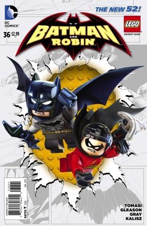 BATMAN AND ROBIN #36 (2011 SERIES) LEGO VARIANT