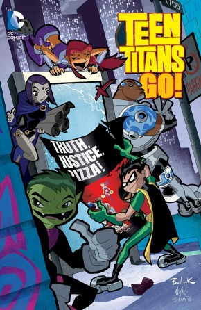 TEEN TITANS GO TRUTH JUSTICE AND PIZZA GRAPHIC NOVEL