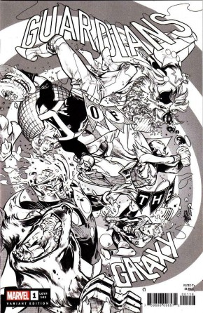 GUARDIANS OF THE GALAXY #1 (2020 SERIES) LARRAZ PARTY 1 PER STORE SKETCH VARIANT