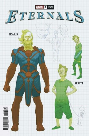 ETERNALS #1 (2021 SERIES) 1 IN 10 RIBIC DESIGN INCENTIVE VARIANT