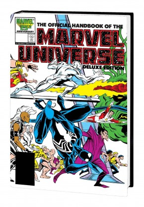 OFFICIAL HANDBOOK OF THE MARVEL UNIVERSE DELUXE EDITION OMNIBUS FRENZ DM HARDCOVER