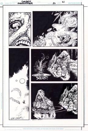 RICHARD CORBEN ORIGINAL ART - SWAMP THING #20 Page 21