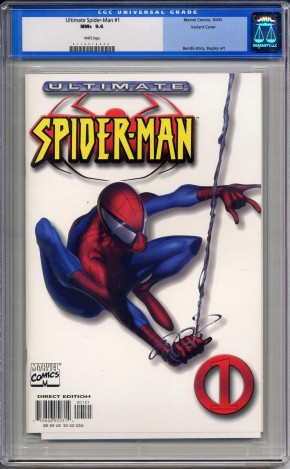 ULTIMATE SPIDER-MAN #1 CGC 9.6 WHITE VARIANT COVER WHITE PAGES