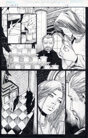 MIKE CHOI ORIGINAL COMIC ART - WITCHBLADE #83 PAGE 12