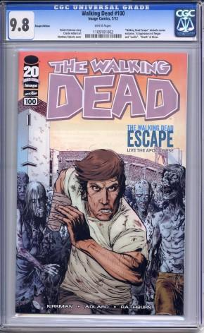 THE WALKING DEAD #100 SAN DIEGO COMIC CON ESCAPE VARIANT CGC 9.8