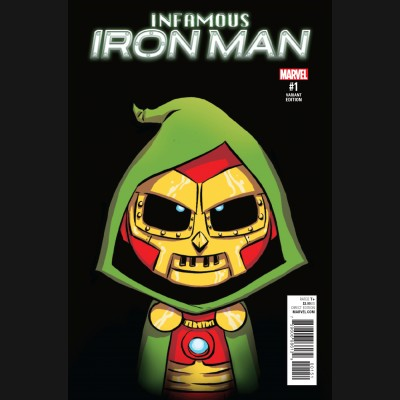 INFAMOUS IRON MAN #1 SKOTTIE YOUNG BABY VARIANT COVER