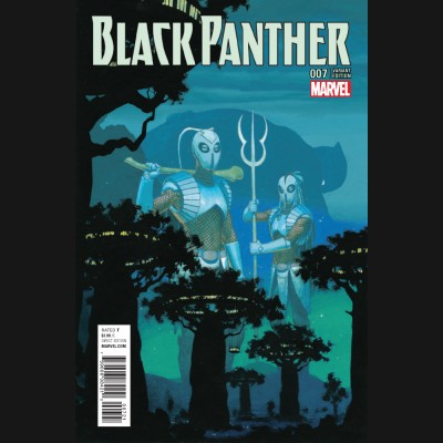 BLACK PANTHER VOLUME 6 #7 RIBIC CONNECTING VARIANT COVER