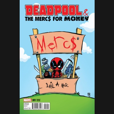 DEADPOOL AND THE MERCS FOR MONEY VOLUME 2 #1 SKOTTIE YOUNG BABY VARIANT COVER